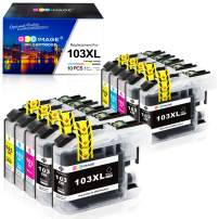 GPC Image Compatible Ink Cartridge Replacement for Brother LC103XL to use with MFC-J870DW MFCJ6920DW MFCJ4510DW MFCJ875DW MFC-J470DW (10-Pack)