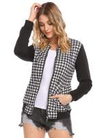 Zeagoo Women's Faux Leather Bomber Metallic Casual Jacket