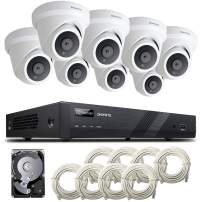 [Audio] ONWOTE 16 Channel 4K IP PoE Security Camera System 4TB HDD, 16CH 4K H.265 NVR, (8) Outdoor 4K 3864x 2160 8.34 Megapixels PoE IP Camera, Dome, 100ft IR, 94° Viwe Angle, Easy Remote Access