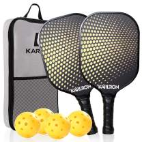 Karltion Pickleball Paddle Set of 2 - USAPA Standard 2 Pickleball Paddles Superior Honeycomb Composite Core Ultra Cushion Grip Gift Kit with Equipment- Portable Racquet Bag and 4 Balls