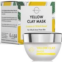 O Naturals Facial Moisturizer Bentonite Clay Mask. Pore Vacuum Face Exfoliator Witch Hazel Hydrating Face Mask, Lemon Oil Turmeric Facial Mask Retinol Intense Acne Treatment for Men & Women 1.7oz