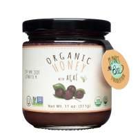 GREENBOW Organic Honey with Acai - 100% USDA Certified Organic, Gluten Free, Non-GMO Organic Acai Honey - Highest Quality Whole Food Organic Acai Honey – 11oz (311g)