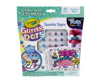 Crayola Trolls World Tour Sparkle Signs, Trolls 2, Glitter Art Activity, Gift for Kids, Ages 5, 6, 7, 8, Multicolor