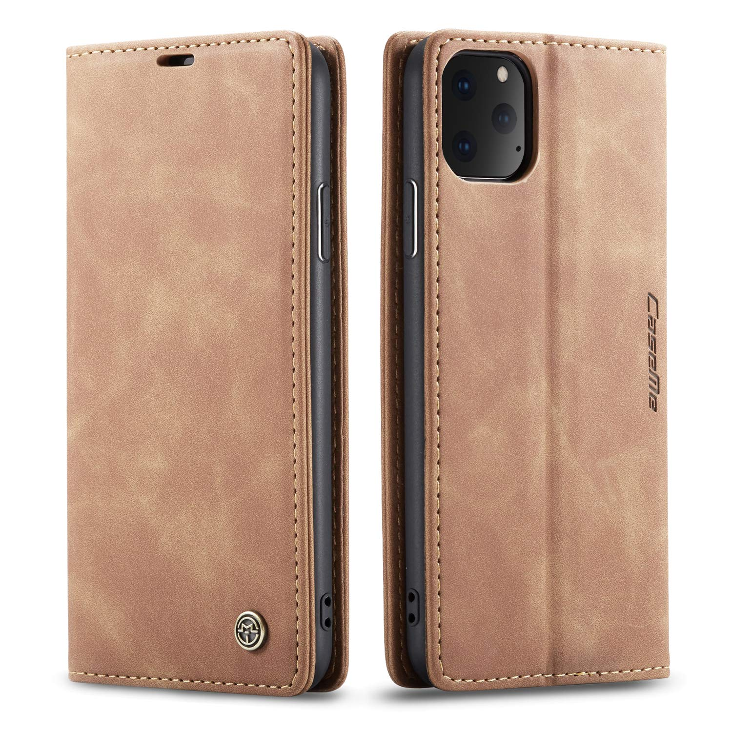 iPhone 11/11 Pro/ 11 Pro Max Slim Folio Leather Wallet Card Holder Case Kickstand Magnetic Closure Potective Flip Cover