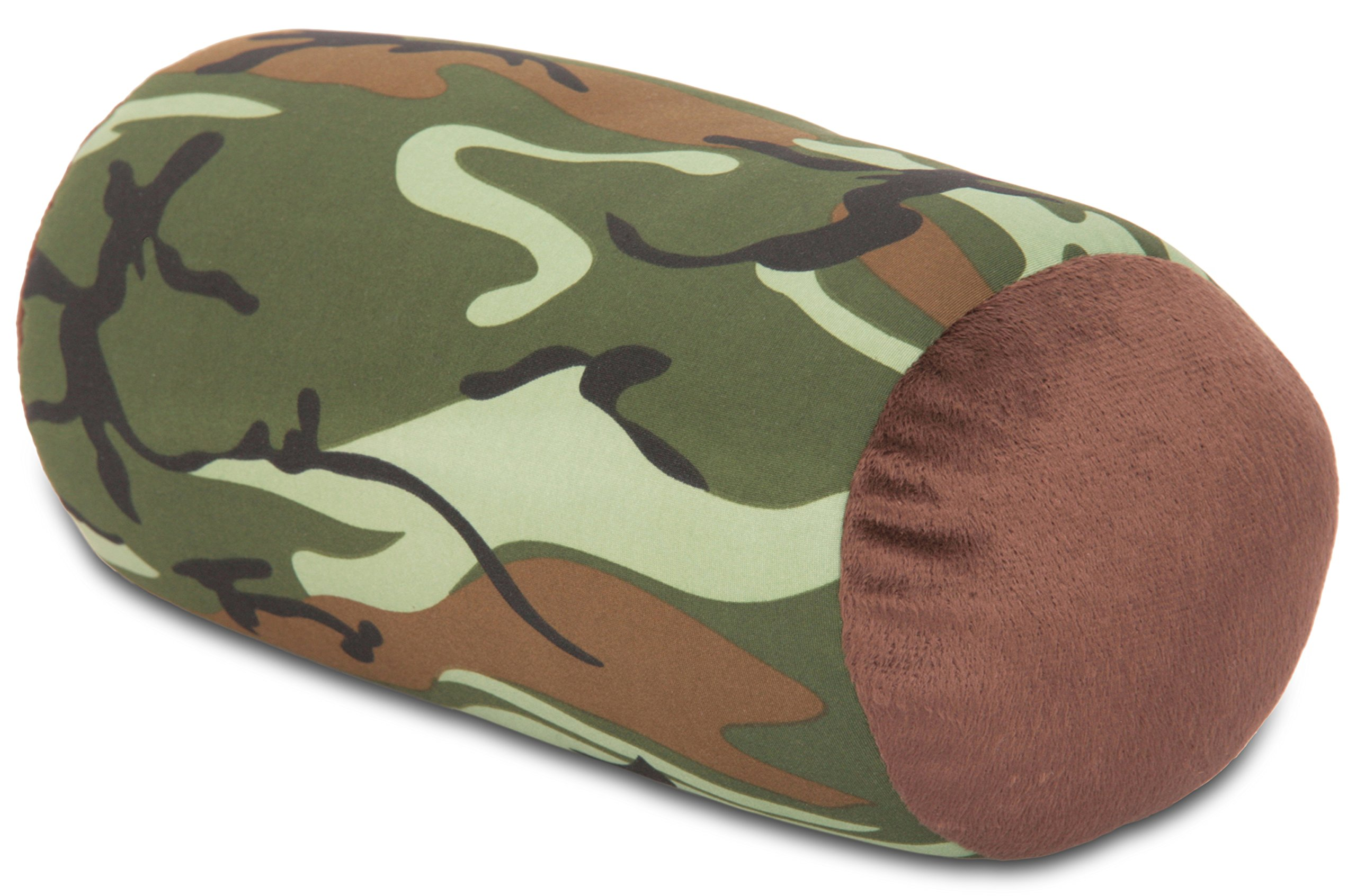 """Mooshi Squish Mini Microbead Jelly Bean Bed Pillow (12"""" x 7"""") – Airy Squishy Soft Microbeads – Eight Wild Fun Colors to Choose From – Cuddly and Fun Dormroom Accessory – Bed Pillow, Camouflage"""