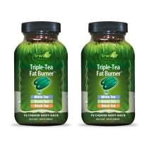 Irwin Naturals Triple-Tea Fat Burner - White, Green & Black Tea - Antioxidant Rich Metabolism Booster - 75 Liquid Softgels (2 Pack)