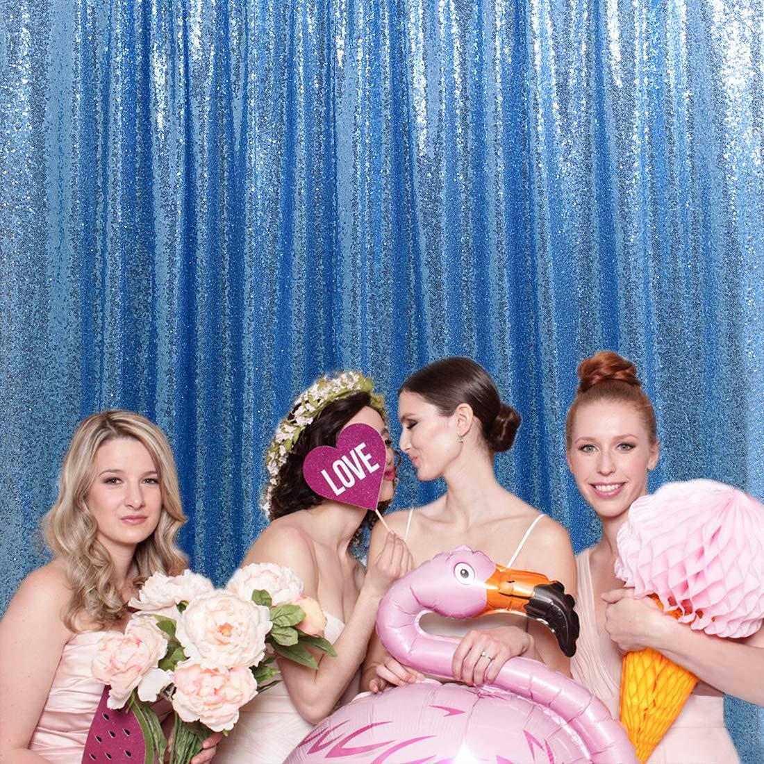 7ftx7ft Baby Blue Curtain Backdrop Sequin Backdrop Photography Shiny Glitter Prom Backdrop Glitter Drapes