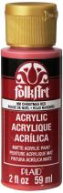 FolkArt Acrylic Paint in Assorted Colors (2 oz), 958, Christmas Red