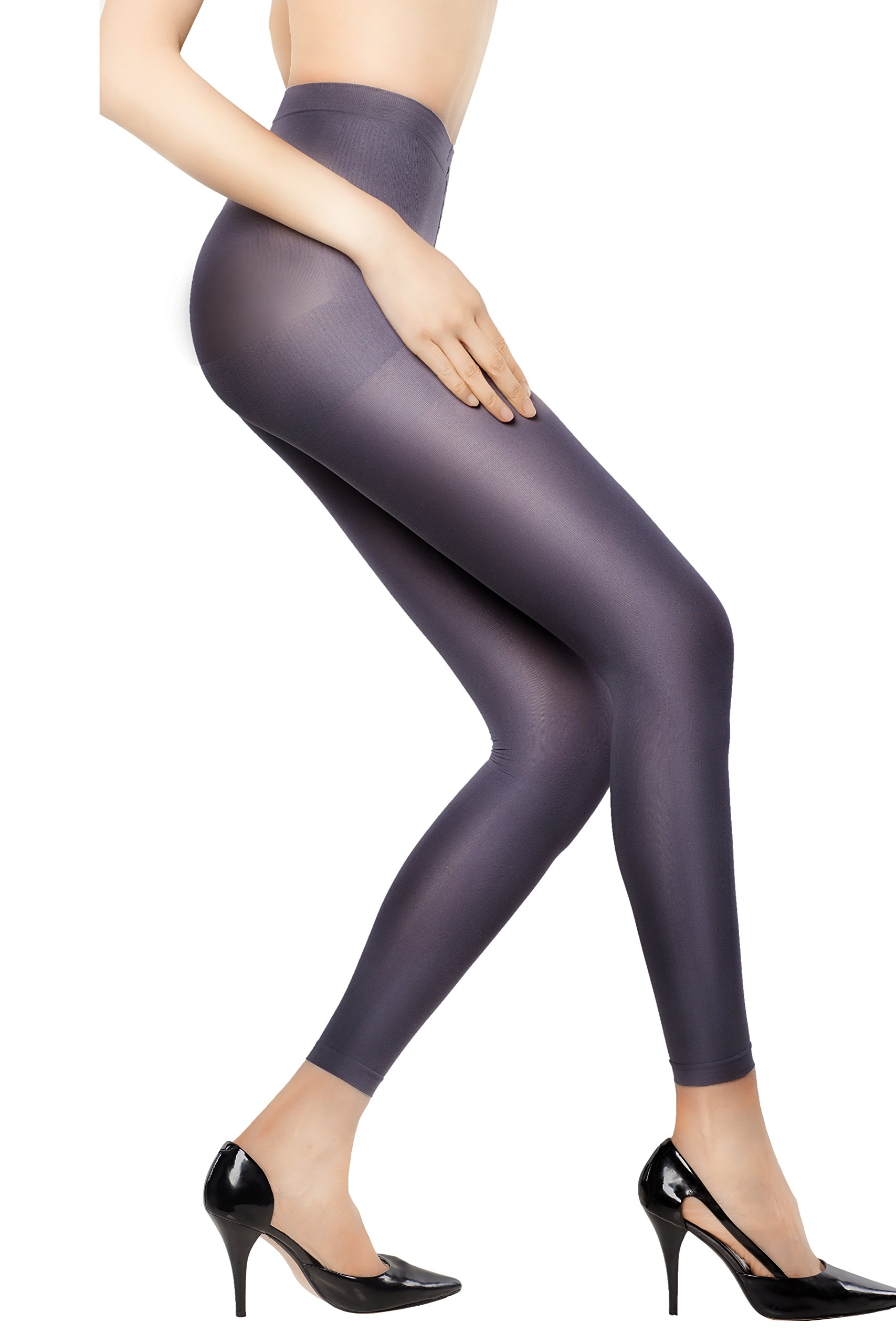 +MD Women's 8-15mmHg Graduated Compression Leggings Medical Quality Ladies Footless Support Tights Grays