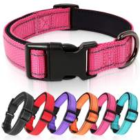 Timos Reflective Dog Collar for Small Medium Large Dogs with Soft Neoprene Padded Breathable Nylon Puppy Collars Adjustable