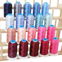 Threadart 20 Spool Polyester Embroidery Machine Thread Pink/Blue Colors | 1000M Spools 40wt | For Brother Babylock Janome Singer Pfaff Husqvarna Bernina Machines - 10 Sets Available