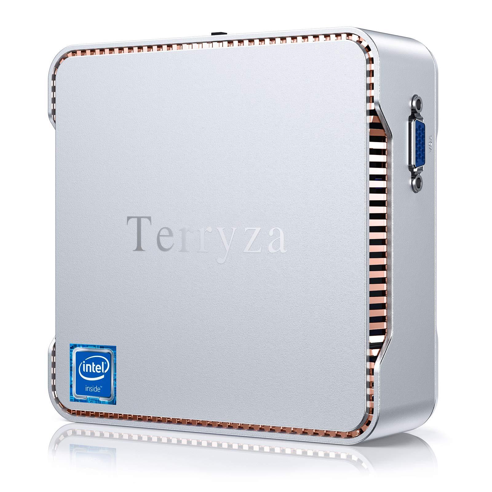 Mini PC 8GB RAM /128GB SSD Intel Celeron N3350 (up to 2.4GHz) Mini Desktop PC,Support 4K HD, Dual Band Wi-Fi 2.4G/5G,Gigabit Ethernet,HDMI/VGA Port Multi-Display, BT 4.2