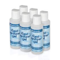 Ameriguardrx Alcohol Based Hand Sanitizer Gel, 3.4 Fl oz / 100 ml, 6 Pack, Unscented