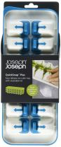 Joseph Joseph 20020 QuickSnap Ice Cube Tray with Cover Lid Easy-Release No-Spill Stackable Odor-Free Dishwasher Safe, Blue