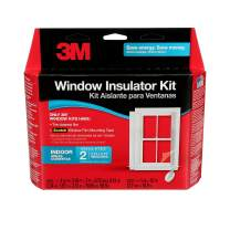 3M Indoor 2-Window Insulator Kit, Window Insulation Film for Heat and Cold, 5.16 ft. x 17.5 ft., Covers Two 3 ft. by 5 ft. Windows