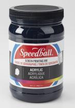 Speedball 004652 Acrylic Screen Printing Ink, 946ml, 32 Fl. oz, Dark Blue 32 Fl Oz