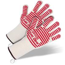BBQ Gloves - Long Wrist Protect Oven Gloves, Heat Resistant Grill Gloves, Non-Slip Cooking Gloves, Cooking Barbecue Gloves Kitchen Mitts,Cooking Oven Barbecue Gloves Kitchen Mitts - Long Red,1 Pair