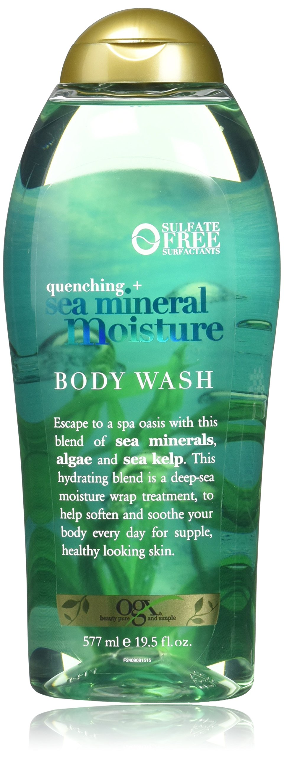 OGX Quenching + Sea Mineral Moisture Body Wash, 19.5 Ounce