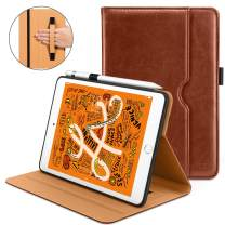 DTTO iPad Mini 5th Generation 2019 Case, [Noble Series] Leather Folio Cover Case with Apple Pencil Holder for iPad Mini 5 2019 [Auto Sleep/Wake], Brown