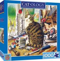 MasterPieces Cat-Ology Jigsaw Puzzle, Nelson, Featuring Art by Geoffrey Tristram, 1000 Pieces