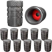 SAMIKIVA (12 Pack) Aluminum Tire Valve Stem Caps, Metal with Rubber Ring, Dust Proof Cover Universal fit for Cars, SUVs, Bike and Bicycle, Trucks, Motorcycles Metal ((12 Pack) Gray)