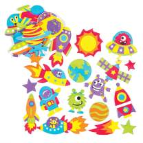 Baker Ross Solar System Foam Stickers Creative Educational Set for Children to Decorate and Embellish Space Crafts (Pack of 120)