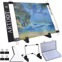 ARTDOT A4 LED Light Pad for Diamond Painting, USB Powered Light Board Kit, Adjustable Brightness with Detachable Stand and Clips