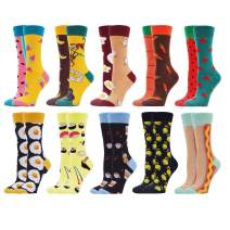 WeciBor Women's Colorful Novelty Funny Crew Socks Crazy Cute Design Combed Cotton Crew Socks