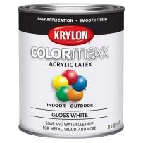 Krylon K05625007 Colormaxx Brush On Paint, Quart, White
