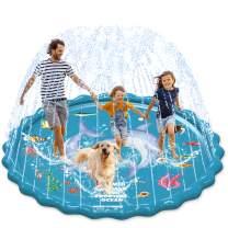 "EPN Sprinkler Play Mat for Kids Splash Pad for Toddlers Kids, Upgraded 82"" Summer Outdoor Water Toys, Splash & Sprinkler Water Toys Party Wading Pool, Play Mat for 3-12 Years Old Children Boys Girls"