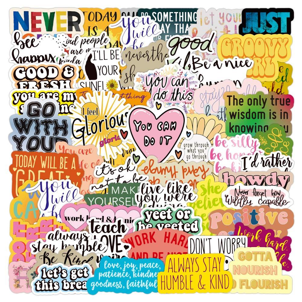 100 Pcs Inspirational Sticker Packs, Reward Motivational Stickers for Teens, Students, Teachers and Employees, Waterproof Vinyl Decal Stickers for Laptop Skateboard Hydroflasks