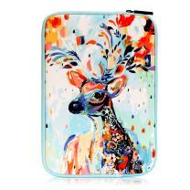 MoKo 9-10.5 Inch Sleeve Bag, Portable Neoprene Case Cover Fit iPad 10.2 2019, iPad Air 3 10.5, iPad Pro 10.5, iPad 9.7 6th Generation, iPad Air 2, Galaxy Tab A 10.1 - Christmas Deer