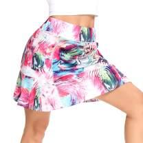 WOWENY Women's Athletic Tennis Skorts Skirts for Women Running Golf Skort with Pockets