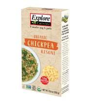 Explore Cuisine Organic Chickpea Risoni (6 Pack) - 10.6 oz - High Protein Gluten Free Pasta - USDA Certified Organic, Vegan, Kosher, Non GMO - 30 Total Servings