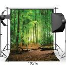SJOLOON 10X10ft Spring Green Forest Thin Vinyl Photo Backdrops Camping Themed Baby Shower Photography Background Studio Props 10516