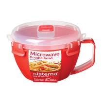 Sistema 1109ZS Microwave Collection Noodle Bowl, 31.7 Oz, Red