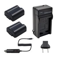 Bonadget CGA-S006/DMW-BMA7 Battery Charger Set, 1500mAh 2-Pack CGA-S006E Replacement Battery with Charger Compatible with Panasonic Lumix DMC-FZ7, DMC-FZ8, DMC-FZ28, DMC-FZ30, DMC-FZ35, DMC-FZ38