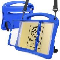 Bam Bino Space Suit [Rugged Kids Case] for 2019 10.2 iPad (7th Generation), iPad Pro 10.5, iPad Air 3 | Designed in Australia | Screen Guard (Blue)