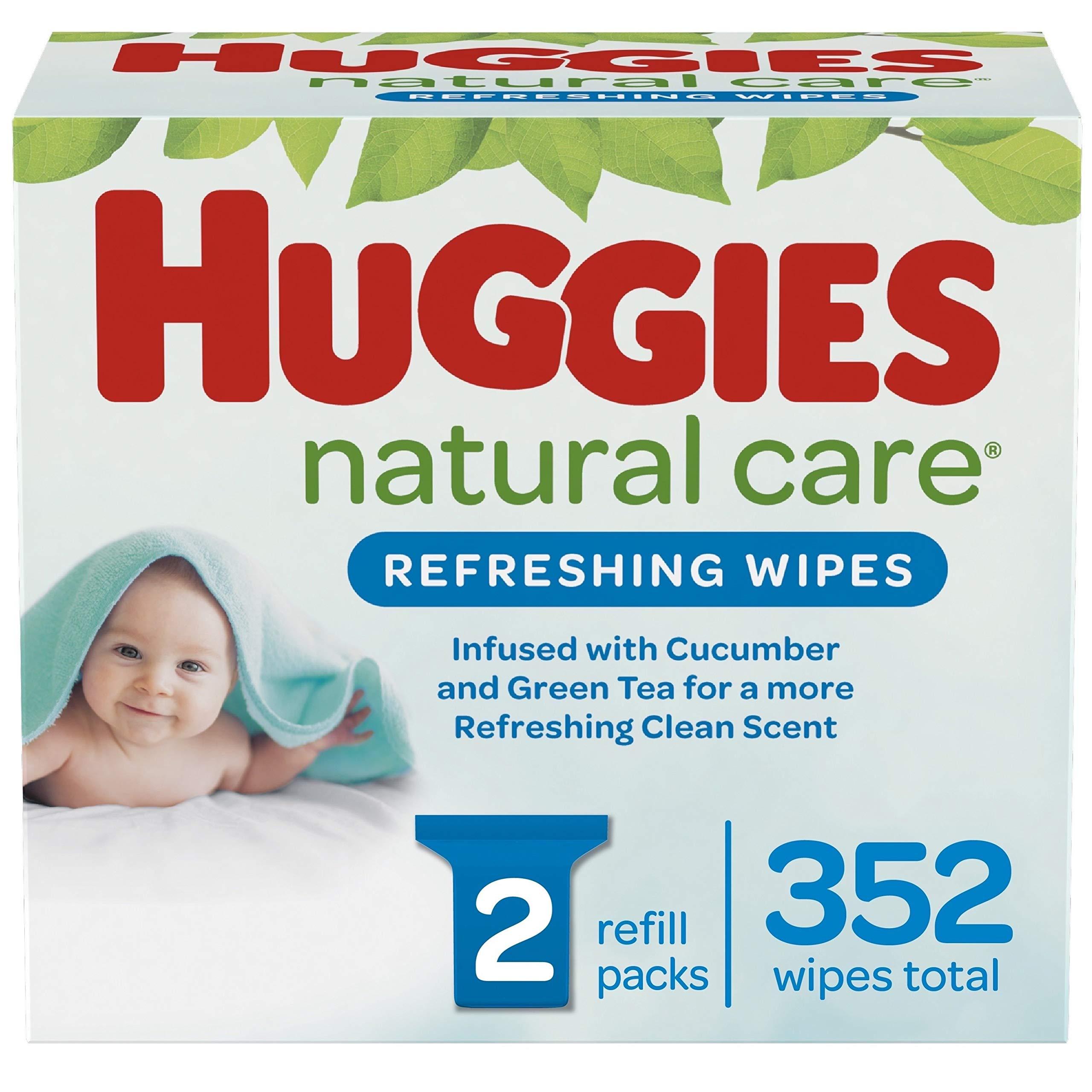 HUGGIES Refreshing Clean Baby Wipes, 2 Packs, 352 Total Wipes