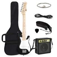 Best Choice Products 30in Kids 6-String Electric Guitar Beginner Starter Kit w/ 5W Amplifier, Strap, Case, Strings, Picks - Black