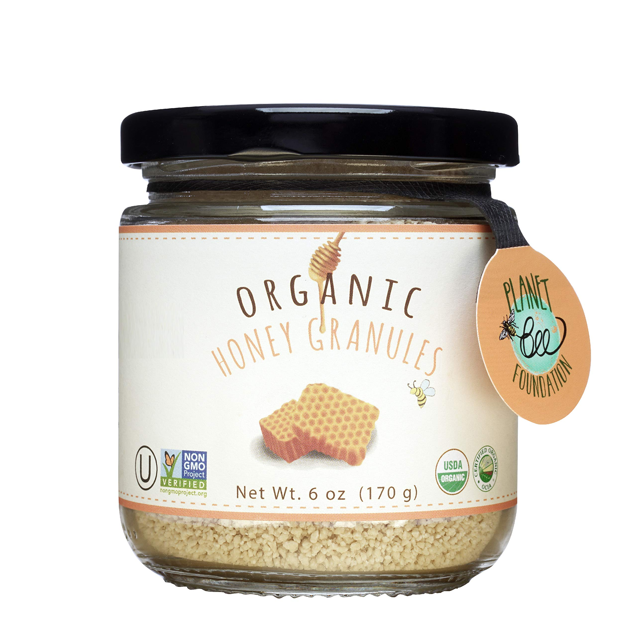 GREENBOW Organic Honey Granules - 100% USDA Certified Organic, Gluten Free, Non-GMO Organic Honey Granules - Highest Quality Whole Food Organic Honey Granules – 6oz (170g)