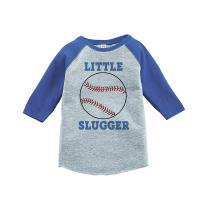 7 ate 9 Apparel Little Slugger Baseball Raglan Tee