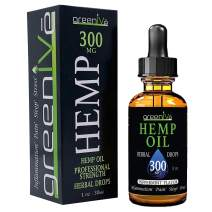 GreenIVe - Hemp Oil - Premium Quality Hemp Plant Oil - USA farmed and Bottled - Exclusively on Amazon (1 Ounce 300mg, Peppermint)