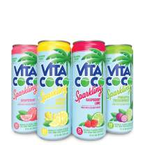 Vita Coco Sparkling Water, Sampler Pack | Boosted with Coconut Water | 25 Calories | No Added Sugar | Full of Flavor | 12 Oz (Pack of 4)