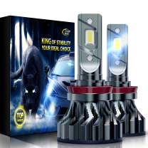 Cougar Motor Flagship H11 (H8, H9) LED Bulbs, Super Bright 6500K Conversion Kit - Cool White, Super Bright Halogen Replacement