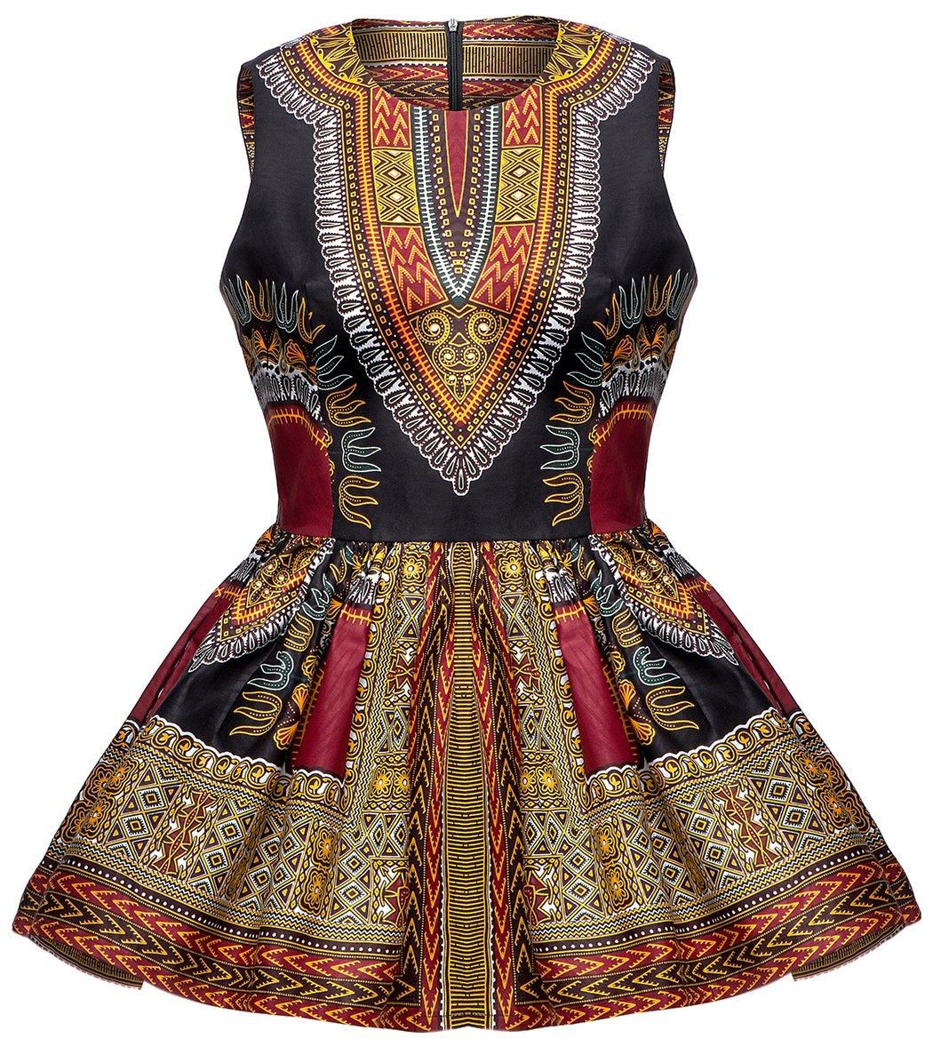 Shenbolen Women African Print Shirt Dashiki Traditional Top