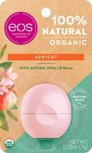 eos USDA Organic Lip Balm - Apricot   Lip Care to Nourish Dry Lips   100% Natural and Gluten Free   Long Lasting Hydration   0.25 oz