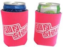 KCC Industries 8 oz. Mini Beer & Soda Slim Can Sleeves - Set of 2 Fun Size Coolies (Bright Pink)