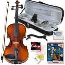 Bunnel Pupil Violin Outfit 1/2 Size By Kennedy Violins - Carrying Case and Accessories Included - Solid Maple Wood and Ebony Fittings