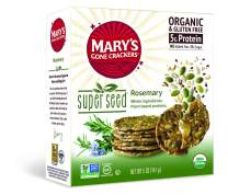 Mary's Gone Crackers Super Seed Crackers, Organic Plant Based Protein, Gluten Free, Rosemary, 5 Ounce (Pack of 6)